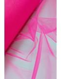 Tulle rigide rose fluo au metre large 140 cm