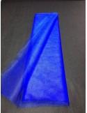 Tenture Tulle rigide bleu roi large 75 cm au metres non feu EN71-2