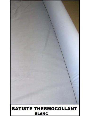 BATISTE blanc collant coupon 50 x 45 cm