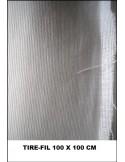 Tire-fil coton blanc 100x100 cm