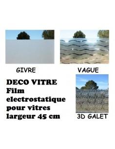 Film deco vitre largeur 45 cm