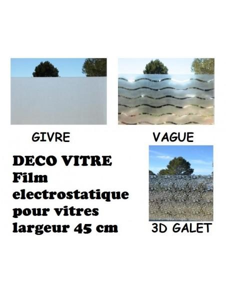 Film deco vitre largeur 45 cm et 90 cm