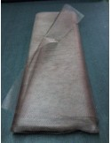 Tulle rigide marron chocolat large 150 cm au metre EN71-2 non feu