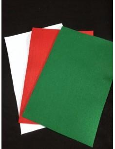 Feutrine 3 mm NOEL blanc - rouge vert 30x20cm au choix