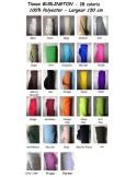 Tissus BURLINGTON 28 coloris au 50  metres largeur 150 cm