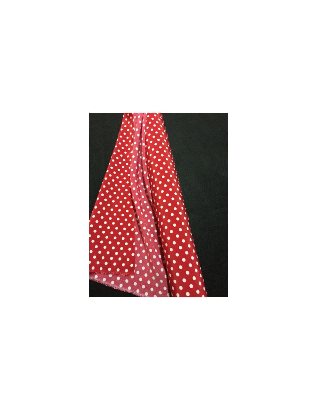 tissus rouge a pois blanc robe leonie dans ducobu tissus polyester tissus habillement. Black Bedroom Furniture Sets. Home Design Ideas