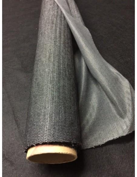 Toile lainee laineuse noire largeur  90 cm