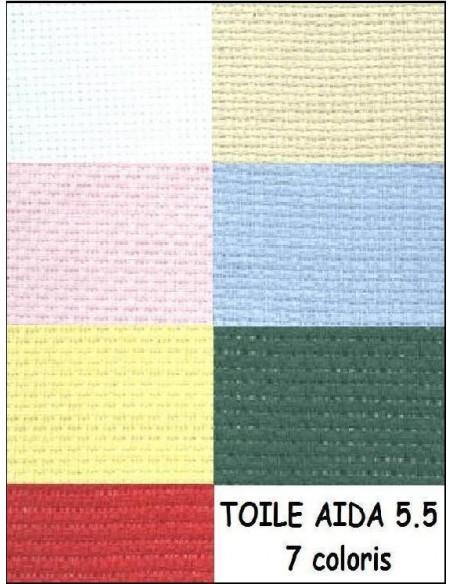 AIDA 5.5 au metre largeur 150 cm