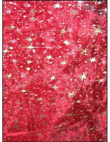 ORGANZA étoiles rouge
