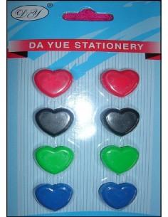 Magnet aimant stickers COEUR frigo tableau par 8