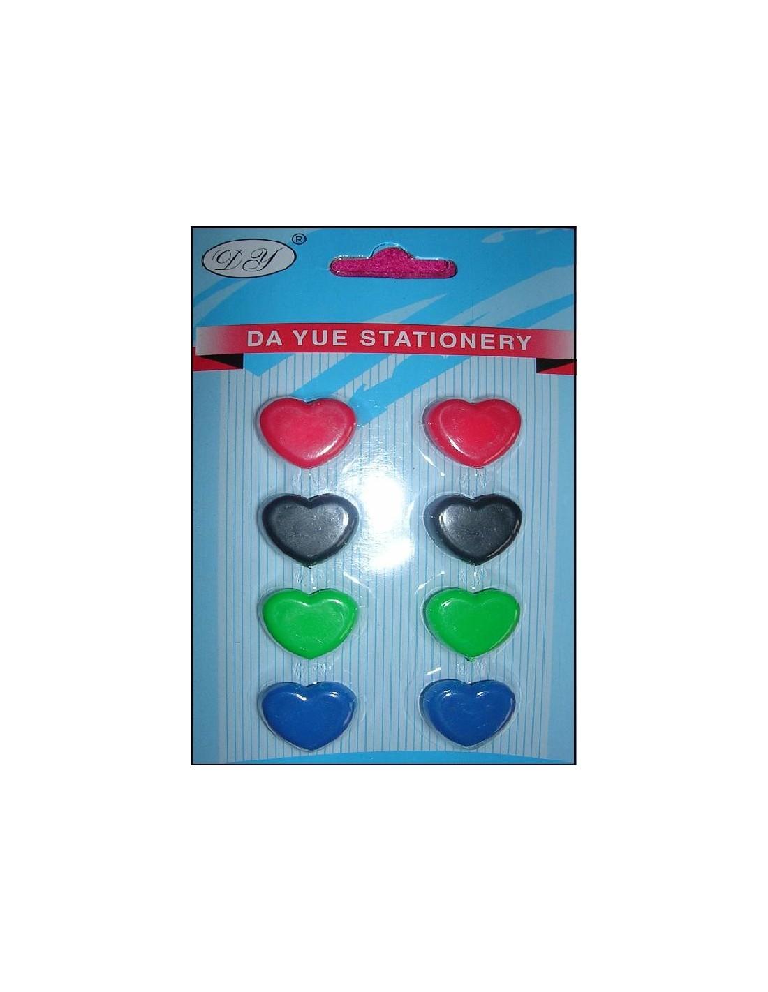 Magnet aimant stickers coeur frigo tableau par 8 creadetex for Tableau aimante pour frigo