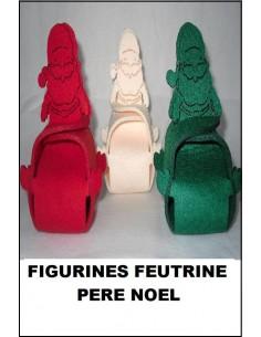 Figurine boite feutrine 3 mm PERE NOEL
