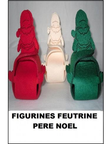 Feutrine feutrine boite pere no l monter d coration - Petit pere noel figurine ...