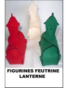 Figurine boite  feutrine 3 mm LANTERNE