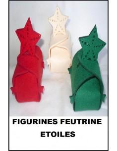 Figurine boite feutrine 3 mm ETOILE