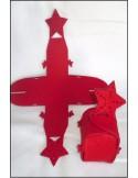 Figurine feutrine ETOILE rouge