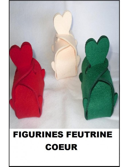 Figurineboite feutrine 3 mm COEUR Saint Valentin