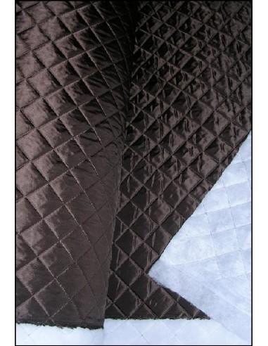 DOUBLURE MATELASSEE Marron chocolat largeur 140 CM