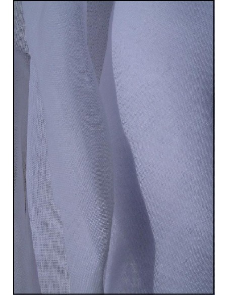 Toile a beurre coton largeur 260 cm blanc et ecru