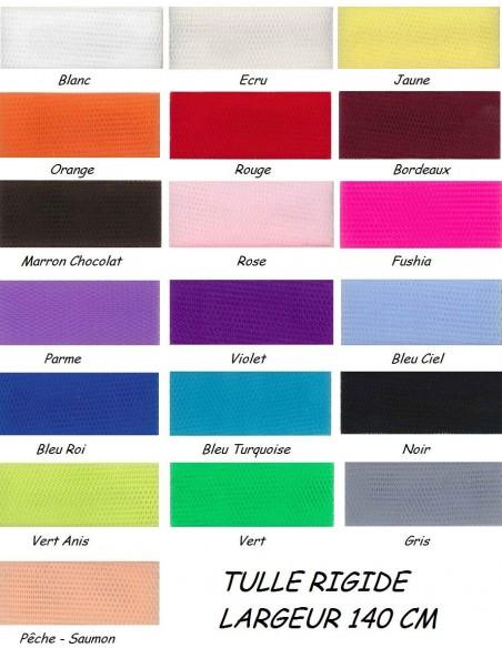 Tulle mariage rigide au metre large 150 cm - 24 coloris