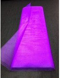 Tulle rigide violet au metre large 140 cm