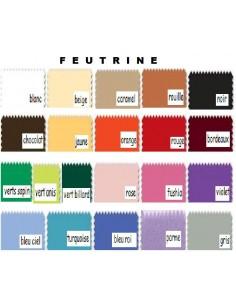 Feutrine 1mm coupons 30x20cm au choix