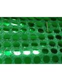 Tissus MAILLE vert verte facettes pailleté paillettes