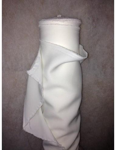 Tissus BURLINGTON blanc au metre largeur 150 cm