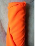 Tissus BURLINGTON orange fluo au mètre largeur 150 cm