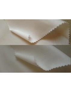 Satinette coton blanc blanche ecru ivoire au mètre large 160 cm par 50 m.