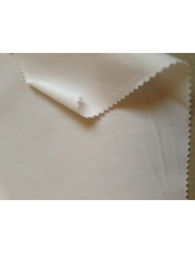 Satinette coton blanc blanche au mètre large 160 cm par 50 m.