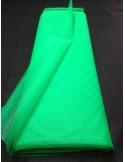 Tenture Tulle rigide vert large 75 cm au metres non feu EN71-2