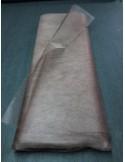 Tenture Tulle rigide marron chocolat large 75 cm au metres non feu EN71-2