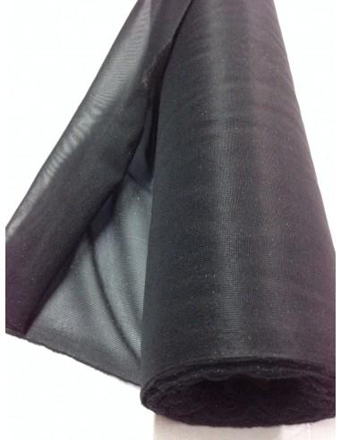 Maille jersey NOIR  thermocollant  largeur 90 cm au metre
