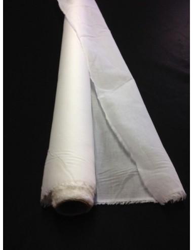 Tissus toile ORGANDI BLANC 100 % coton peigné au metre en largeur de 150 cm