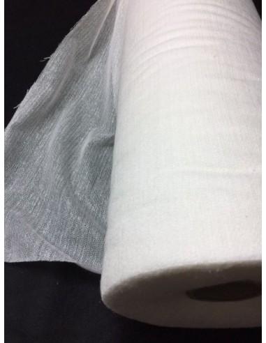 Toile lainée laineuse blanche 90 cm