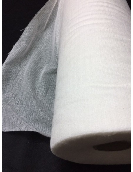 Toile lainee laineuse ecru blanc 90 cm