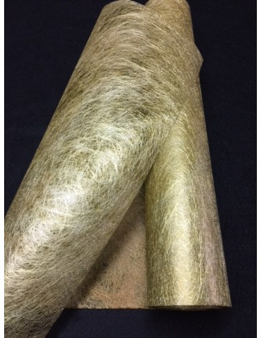 30 metres Non Tisse OR DORE tissu INTISSE chemin de table large 37.50 cm