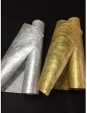 30 metres Non Tisse OR DORE argent  tissu INTISSE chemin de table large 37.50 cm