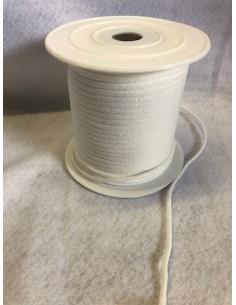 Elastique Cordon Rond Blanc diametre 3 mm Souple rouleaux de 50 metres