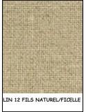 LIN toile à broder 12 fils 50x40cm