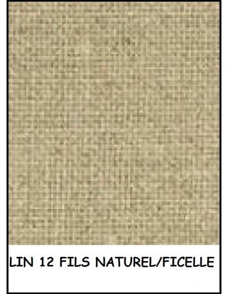 LIN toile a broder 12 fils 50x40cm