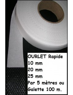 OURLET rapide 100 metres : 10mm 20mm 25mm