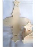 Figurine feutrine ETOILE blanc