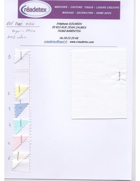 Pique de coton rayure largeur 150 cm