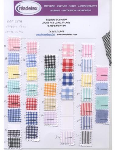 Tissus coton vichy largeur 150 cm