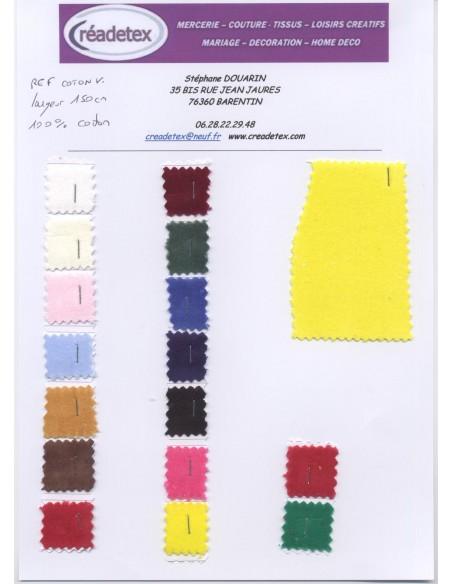 Tissus coton velours largeur 150 cm